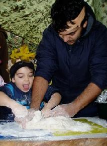 belevaló apák - közös sütés